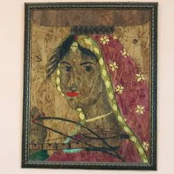 silent beauty , 21 x 26 inch, riya thatte,21x26inch,wood board,paintings,portrait paintings,portraiture,paintings for dining room,paintings for living room,paintings for office,paintings for hotel,paintings for school,paintings for hospital,charcoal,poster color,GAL01576926452