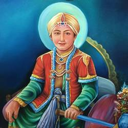 guru harkrishan sahib ji, 30 x 36 inch, komal arora,30x36inch,canvas,paintings,dog painting,paintings for living room,oil color,GAL0885626483