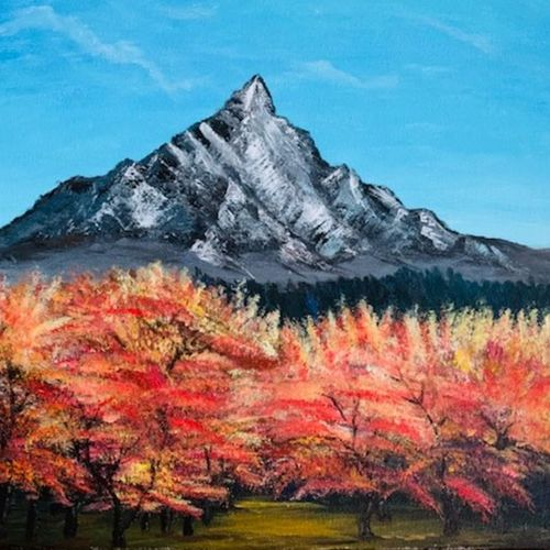 summer mountain, 14 x 18 inch, gayathiri  guliani,14x18inch,canvas,paintings,nature paintings | scenery paintings,paintings for dining room,paintings for living room,paintings for bedroom,paintings for office,paintings for bathroom,paintings for kids room,paintings for hotel,paintings for kitchen,paintings for school,paintings for hospital,acrylic color,GAL01450226490