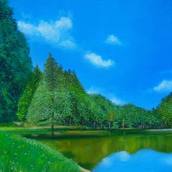 nature beauty, 18 x 14 inch, rijoy  emmanuel,18x14inch,canvas,paintings,wildlife paintings,flower paintings,landscape paintings,nature paintings | scenery paintings,paintings for dining room,paintings for living room,paintings for bedroom,paintings for office,paintings for bathroom,paintings for kids room,paintings for hotel,paintings for kitchen,paintings for school,paintings for hospital,acrylic color,oil color,GAL0643126503