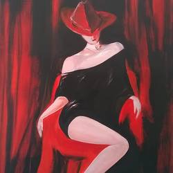 sexy, 24 x 36 inch, sayantan  ghati ,figurative paintings,paintings for dining room,canvas,acrylic color,24x36inch,GAL07702652