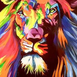 the king in colors (glow in dark), 25 x 35 inch, silpa ajith,25x35inch,canvas,paintings,abstract expressionism paintings,animal paintings,paintings for living room,paintings for bedroom,paintings for office,paintings for hotel,acrylic color,GAL01584626544