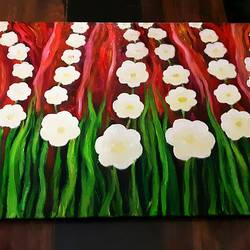 prairies, 12 x 20 inch, praveena shree egambaram,12x20inch,canvas board,paintings,abstract paintings,flower paintings,nature paintings | scenery paintings,expressionism paintings,paintings for dining room,paintings for living room,paintings for bedroom,paintings for office,paintings for kids room,paintings for hotel,paintings for kitchen,paintings for school,paintings for hospital,oil color,GAL0681426554