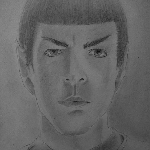 spock , 9 x 12 inch, neha musale,9x12inch,paper,drawings,paintings for living room,paintings for kids room,portrait drawings,paintings for living room,paintings for kids room,graphite pencil,paper,GAL01557726572