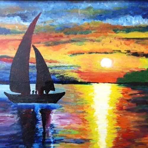 beautiful scenery painting, 10 x 12 inch, gurinder kaur  nayyar,10x12inch,canvas,nature paintings | scenery paintings,paintings for dining room,paintings for living room,paintings for bedroom,paintings for office,paintings for hotel,paintings for dining room,paintings for living room,paintings for bedroom,paintings for office,paintings for hotel,acrylic color,GAL01585026585