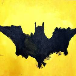 batman soils the wall, 14 x 18 inch, rishaan patil,14x18inch,canvas,paintings,conceptual paintings,pop art paintings,kids paintings,acrylic color,GAL01590426598