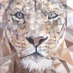 lion-predator, 15 x 22 inch, samiksha  singh,wildlife paintings,paintings for living room,animal paintings,cubist paintings,paper,poster color,15x22inch,GAL010512660