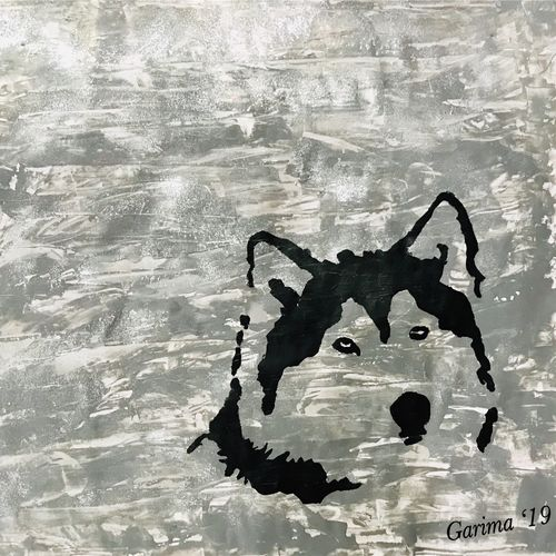 wolf time, 33 x 27 inch, garima jain,33x27inch,thick paper,paintings,wildlife paintings,modern art paintings,illustration paintings,minimalist paintings,animal paintings,contemporary paintings,dog painting,paintings for dining room,paintings for living room,paintings for bedroom,paintings for office,paintings for kids room,paintings for hotel,paintings for school,paintings for hospital,acrylic color,pen color,GAL01590926607