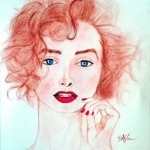 russian model, 13 x 15 inch, sagar jakz,13x15inch,thick paper,paintings,portrait paintings,impressionist paintings,surrealism paintings,paintings for hotel,mixed media,GAL0457026613