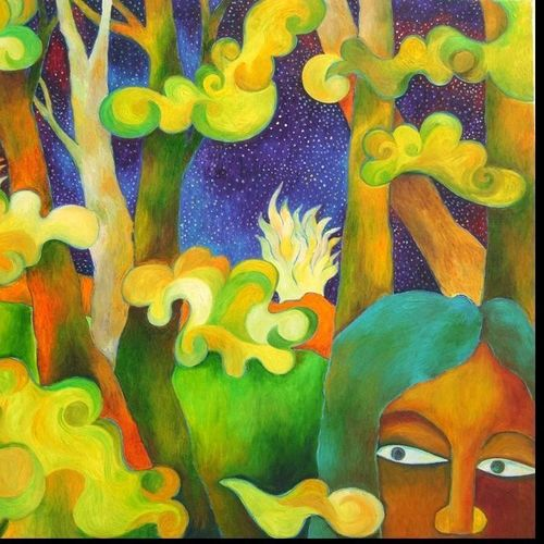 in the woods, 36 x 30 inch, chaitali chatterjee,36x30inch,canvas,paintings,figurative paintings,landscape paintings,nature paintings | scenery paintings,impressionist paintings,contemporary paintings,paintings for dining room,paintings for living room,paintings for bedroom,paintings for office,paintings for hotel,paintings for school,paintings for hospital,oil color,GAL01566226617