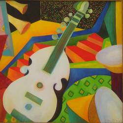 musician, 36 x 30 inch, chaitali chatterjee,36x30inch,canvas,still life paintings,cubism paintings,expressionism paintings,contemporary paintings,paintings for dining room,paintings for office,paintings for kids room,paintings for hotel,paintings for school,paintings for hospital,paintings for dining room,paintings for office,paintings for kids room,paintings for hotel,paintings for school,paintings for hospital,oil color,GAL01566226619