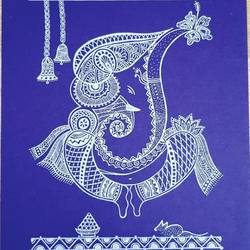 lord ganesha, 8 x 12 inch, swati gupta,8x12inch,thick paper,paintings,religious paintings,ganesha paintings | lord ganesh paintings,kalamkari painting,paintings for living room,paintings for office,paintings for hospital,paper,GAL01592426631