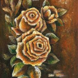 pure roses - ii, 11 x 15 inch, deepa singh,11x15inch,thick paper,paintings,abstract paintings,flower paintings,paintings for dining room,paintings for living room,paintings for bedroom,paintings for office,paintings for kids room,paintings for hotel,acrylic color,GAL01060126670