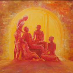 human bonding , 36 x 24 inch, shantaram rawool,36x24inch,canvas,paintings,abstract paintings,figurative paintings,conceptual paintings,abstract expressionism paintings,expressionism paintings,illustration paintings,surrealism paintings,love paintings,paintings for living room,paintings for bedroom,paintings for hotel,paintings for hospital,oil color,GAL01593826697