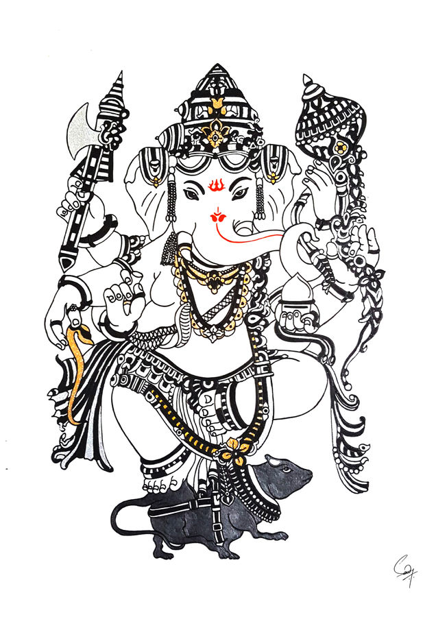 Ganpati painting grace and poise