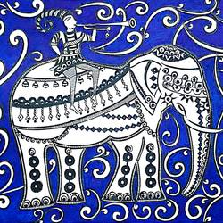elephant , 8 x 12 inch, sailaja  balgeri,8x12inch,thick paper,drawings,figurative drawings,ink color,GAL01586226725