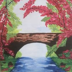 bridge over troubled waters, 8 x 10 inch, analiz  menezes,8x10inch,canvas board,paintings,flower paintings,landscape paintings,paintings for dining room,paintings for living room,paintings for bedroom,paintings for office,paintings for bathroom,paintings for kids room,paintings for hotel,paintings for school,paintings for hospital,acrylic color,GAL01598026731