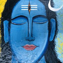 shiva, 10 x 8 inch, nidhi choudhari,10x8inch,canvas,paintings,abstract paintings,religious paintings,lord shiva paintings,paintings for living room,paintings for office,paintings for hotel,acrylic color,GAL01583526734