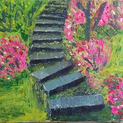move on!, 17 x 12 inch, puja sharma bhatnagar,17x12inch,hardboard,paintings,landscape paintings,paintings for dining room,paintings for living room,paintings for bedroom,paintings for office,paintings for kids room,paintings for hotel,paintings for school,paintings for hospital,oil color,GAL01596726757