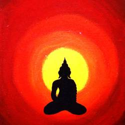 the buddha, 10 x 8 inch, sangeeta reddy,10x8inch,canvas,paintings,ganesha paintings | lord ganesh paintings,acrylic color,GAL01599926759