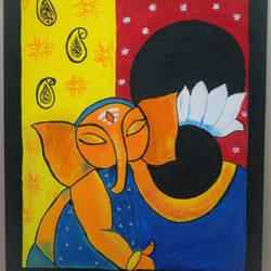 motherhood, 20 x 16 inch, sangeeta reddy,20x16inch,canvas,paintings,religious paintings,portrait paintings,expressionism paintings,children paintings,kids paintings,paintings for living room,paintings for bedroom,paintings for kids room,acrylic color,GAL01599926762