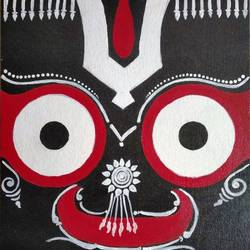 lord jagannath, 12 x 10 inch, sangeeta reddy,12x10inch,canvas,religious paintings,contemporary paintings,paintings for living room,paintings for office,paintings for school,paintings for hospital,paintings for living room,paintings for office,paintings for school,paintings for hospital,acrylic color,graphite pencil,GAL01599926766