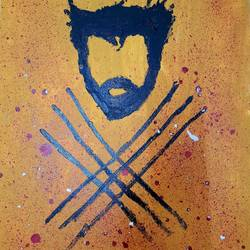 wolverine rips!, 16 x 20 inch, rishaan patil,16x20inch,canvas,paintings,pop art paintings,children paintings,kids paintings,acrylic color,GAL01590426775