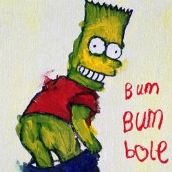 bart bum bum, 12 x 16 inch, rishaan patil,12x16inch,canvas,paintings,pop art paintings,children paintings,kids paintings,acrylic color,GAL01590426776