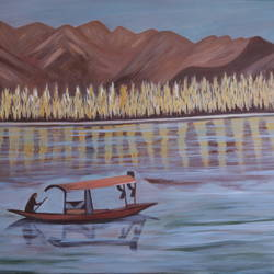 landscape soothing day, 24 x 36 inch, promila  kaul,24x36inch,canvas,paintings,nature paintings   scenery paintings,acrylic color,GAL01596826796