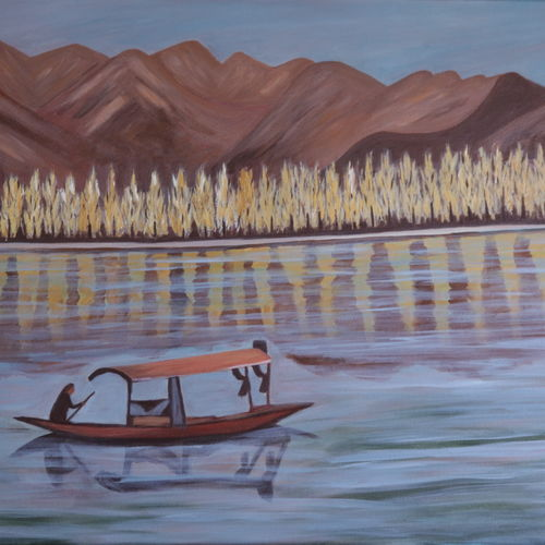 landscape soothing day, 24 x 36 inch, promila  kaul,24x36inch,canvas,paintings,nature paintings | scenery paintings,acrylic color,GAL01596826796