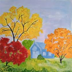the nature withcolors, 16 x 16 inch, abhik mahanti,16x16inch,canvas,paintings,landscape paintings,modern art paintings,nature paintings | scenery paintings,acrylic color,GAL0404426800
