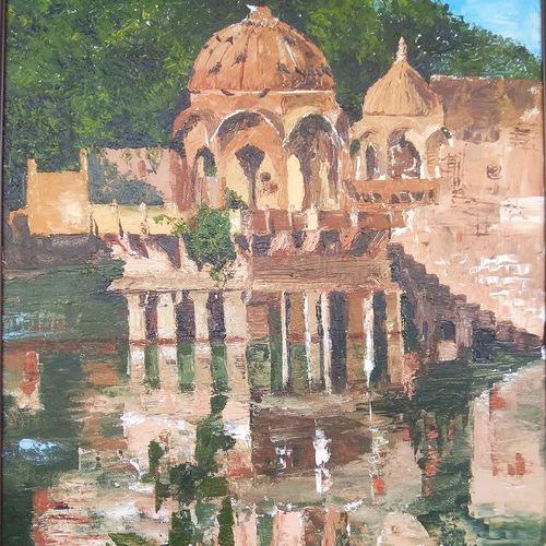 reflections, 28 x 35 inch, puja sharma bhatnagar,28x35inch,canvas,paintings,abstract paintings,landscape paintings,nature paintings | scenery paintings,paintings for dining room,paintings for living room,paintings for bedroom,paintings for office,paintings for hotel,paintings for dining room,paintings for living room,paintings for bedroom,paintings for office,paintings for hotel,oil color,GAL01596726810
