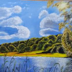 jungle beauty, 42 x 28 inch, urvashi verma,42x28inch,canvas,paintings,landscape paintings,nature paintings | scenery paintings,realistic paintings,paintings for living room,paintings for office,paintings for hotel,oil color,GAL01503926823