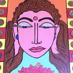 lord budhaa, 12 x 18 inch, ranita sharma,12x18inch,wood board,paintings,buddha paintings,acrylic color,GAL01370526830
