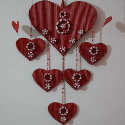 love wall hangings, 19 x 26 inch, t sangeeta reddy,19x26inch,hardboard,handicrafts,wall hangings,acrylic color,paper,GAL01599926840