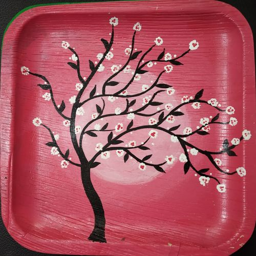 nature , 10 x 10 inch, t sangeeta reddy,10x10inch,wood board,paintings,nature paintings | scenery paintings,paintings for dining room,paintings for living room,paintings for bedroom,paintings for office,paintings for kitchen,acrylic color,GAL01599926842