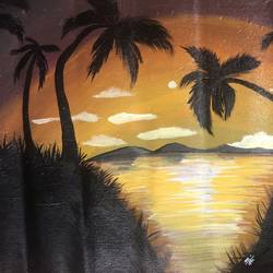 sunset , 18 x 13 inch, nidhi choudhari,18x13inch,canvas,paintings,abstract paintings,landscape paintings,nature paintings | scenery paintings,paintings for living room,paintings for hotel,acrylic color,GAL01583526855