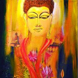 buddha mixed-media, 12 x 16 inch, deepa  vihangam ,12x16inch,canvas,paintings,abstract paintings,buddha paintings,flower paintings,modern art paintings,conceptual paintings,religious paintings,nature paintings | scenery paintings,abstract expressionism paintings,expressionism paintings,contemporary paintings,paintings for dining room,paintings for living room,paintings for bedroom,paintings for office,paintings for kids room,paintings for hotel,paintings for school,paintings for hospital,acrylic color,mixed media,GAL01593426859