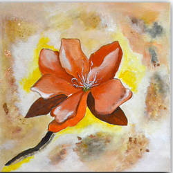 singularity - flower, 16 x 16 inch, deepa  vihangam ,16x16inch,canvas,paintings,abstract paintings,flower paintings,modern art paintings,conceptual paintings,nature paintings | scenery paintings,contemporary paintings,paintings for dining room,paintings for living room,paintings for bedroom,paintings for office,paintings for kids room,paintings for hotel,paintings for kitchen,paintings for school,paintings for hospital,acrylic color,bronze,GAL01593426862
