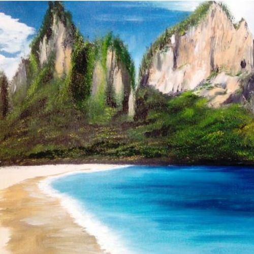 seascape oil painting on canvas, 16 x 12 inch, nishmitha  u r,16x12inch,canvas,paintings,landscape paintings,paintings for dining room,paintings for living room,paintings for bedroom,paintings for hotel,paintings for hospital,oil color,GAL01606926902