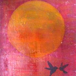 sunrised, 16 x 12 inch, minakhi choudhury,16x12inch,canvas,paintings,landscape paintings,nature paintings | scenery paintings,paintings for living room,paintings for kids room,acrylic color,mixed media,GAL01441426931
