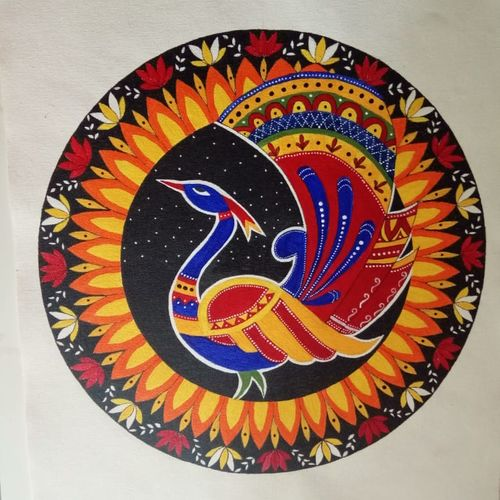 madhubani, 14 x 18 inch, pranoti kulkarni,14x18inch,canvas,paintings,madhubani paintings | madhubani art,paintings for dining room,paintings for living room,paintings for office,paintings for hotel,paintings for dining room,paintings for living room,paintings for office,paintings for hotel,acrylic color,GAL01499726938