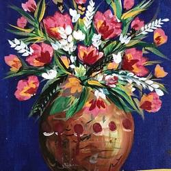 flowers , 10 x 12 inch, ranita sharma,10x12inch,canvas,paintings,flower paintings,acrylic color,GAL01370526945