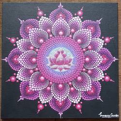 lotus mandala, 12 x 12 inch, suvarna gaonkar,12x12inch,canvas,paintings,abstract paintings,acrylic color,GAL01253226952