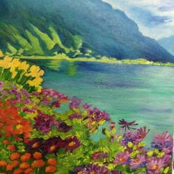 flowers by the sea, 9 x 12 inch, asra fatima,9x12inch,canvas board,paintings,flower paintings,landscape paintings,still life paintings,nature paintings | scenery paintings,paintings for dining room,paintings for living room,paintings for bedroom,paintings for office,paintings for hotel,paintings for kitchen,paintings for school,paintings for hospital,paintings for dining room,paintings for living room,paintings for bedroom,paintings for office,paintings for hotel,paintings for kitchen,paintings for school,paintings for hospital,oil color,GAL0647126971