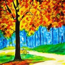 garden, 18 x 25 inch, shyam na,18x25inch,thick paper,paintings,landscape paintings,modern art paintings,paintings for dining room,paintings for living room,paintings for bedroom,paintings for office,paintings for bathroom,paintings for hotel,acrylic color,GAL01612626982