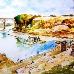 panchganga ghat, 36 x 26 inch, chandrakant jadhav,36x26inch,canvas,abstract paintings,nature paintings | scenery paintings,paintings for dining room,paintings for living room,paintings for bedroom,paintings for office,paintings for kids room,paintings for hotel,paintings for kitchen,paintings for school,paintings for hospital,abstract drawings,abstract expressionism drawings,fine art drawings,paintings for dining room,paintings for living room,paintings for bedroom,paintings for office,paintings for kids room,paintings for hotel,paintings for kitchen,paintings for school,paintings for hospital,pastel color,watercolor,GAL01590726987