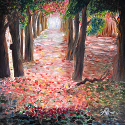 delonix forest, 20 x 16 inch, aneesa rani,landscape paintings,paintings for office,love paintings,canvas,oil paint,20x16inch,GAL010682701heart,family,caring,happiness,forever,happy,trust,passion,romance,sweet,kiss,love,hugs,warm,fun,kisses,joy,friendship,marriage,chocolate,husband,wife,forever,caring,couple,sweetheart