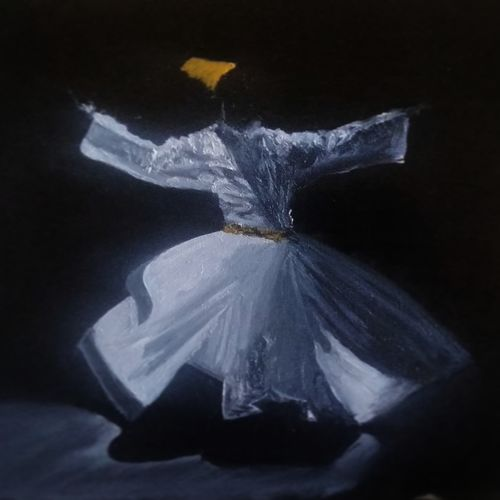 dance of sufism, 12 x 17 inch, sumit maurya,12x17inch,oil sheet,paintings,figurative paintings,religious paintings,still life paintings,abstract expressionism paintings,expressionism paintings,minimalist paintings,pop art paintings,islamic calligraphy paintings,paintings for dining room,paintings for living room,paintings for bedroom,paintings for office,paintings for hospital,oil color,GAL01345727014