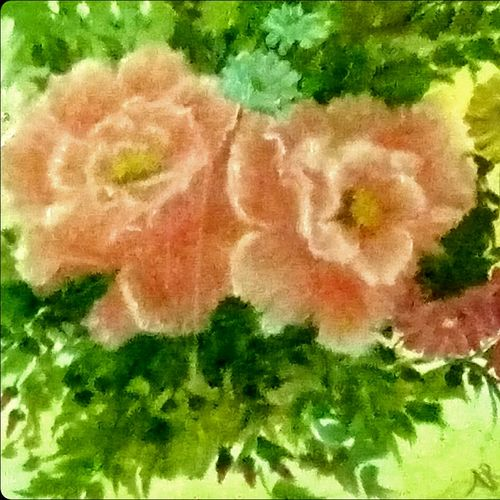 flowers, 20 x 16 inch, aneesa rani,flower paintings,paintings for living room,canvas,oil paint,20x16inch,GAL010682702